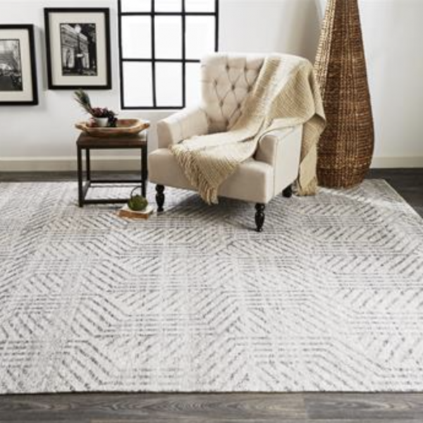 Vivien Hand Knotted Gray Wool Rug