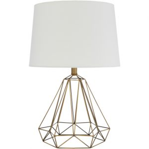 brass geo table lamp