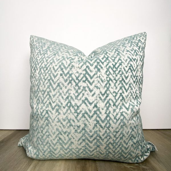 Coastal Teal Blue Designer Pillow