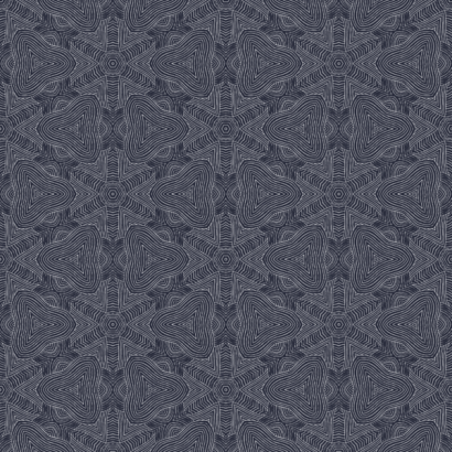 Arbor Round Navy Blue Wallpaper