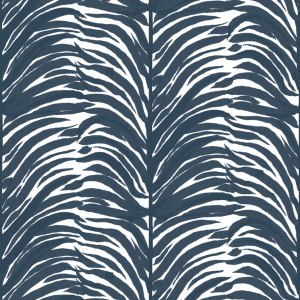 Deco Fern Indigo Navy Blue Wallpaper