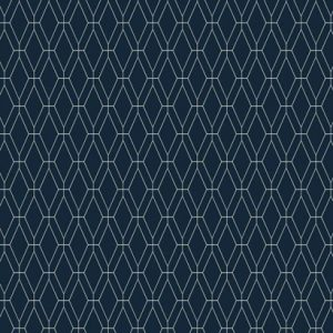Diamond Lattice Navy Blue Wallpaper