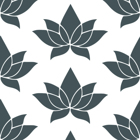 Lotus Flower Charcoal Gray Wallpaper