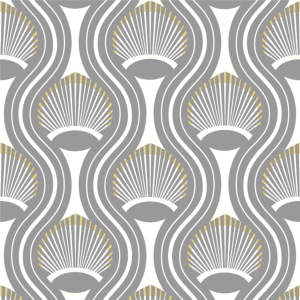 Riviere Gray and Yellow Wallpaper