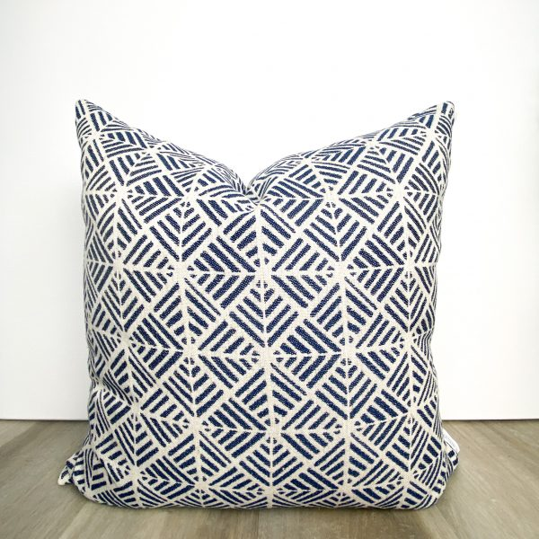 Mid Century Modern Navy Blue Pillow