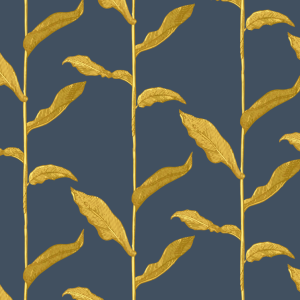 Stalks Golden Night Gray and Yellow Wallpaper