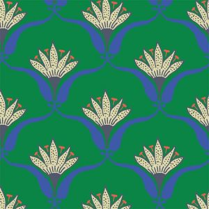 Wallflower Jade Green Floral Wallpaper