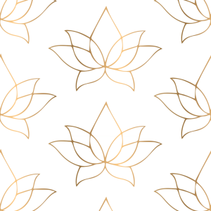 Lotus Flower Gold Wallpaper