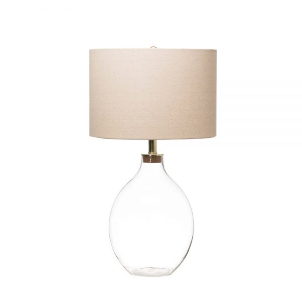 Fillable Glass Bedside Table Lamp