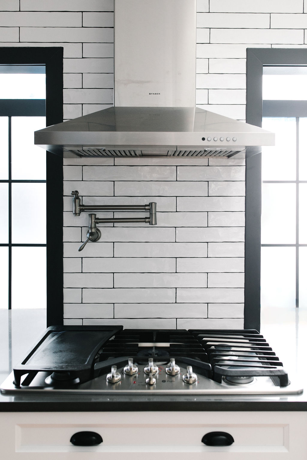 black and white kitchen the Phinery Seattle