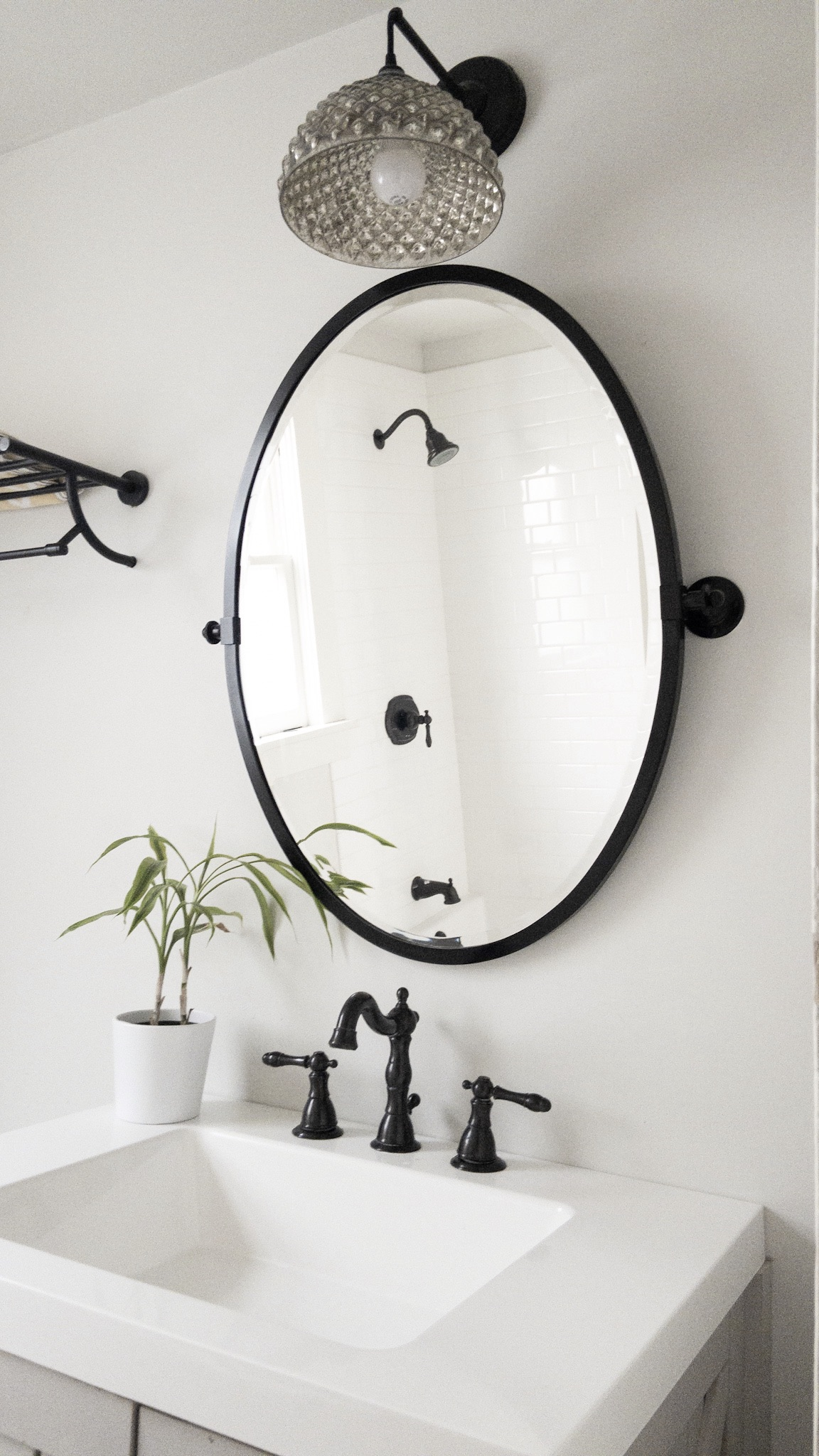 Black and white bathroom the Phinery