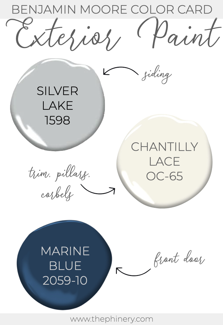 Benjamin Moore Silver Lake Chantilly Lace Exterior Paint Color .001