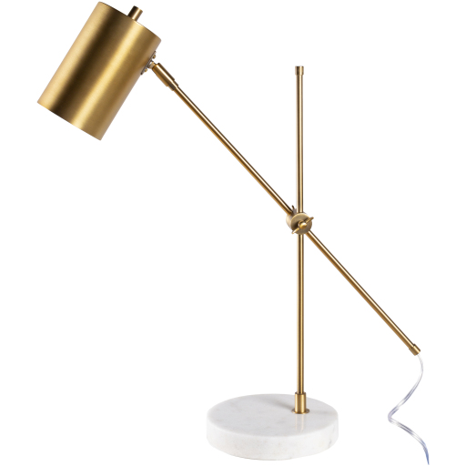 Brass and marble task lamp