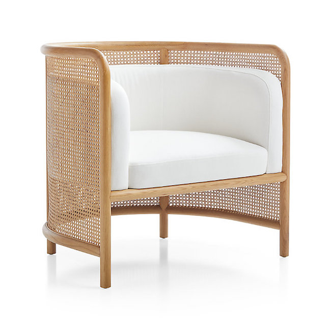 cane back accent chair crate and barrel
