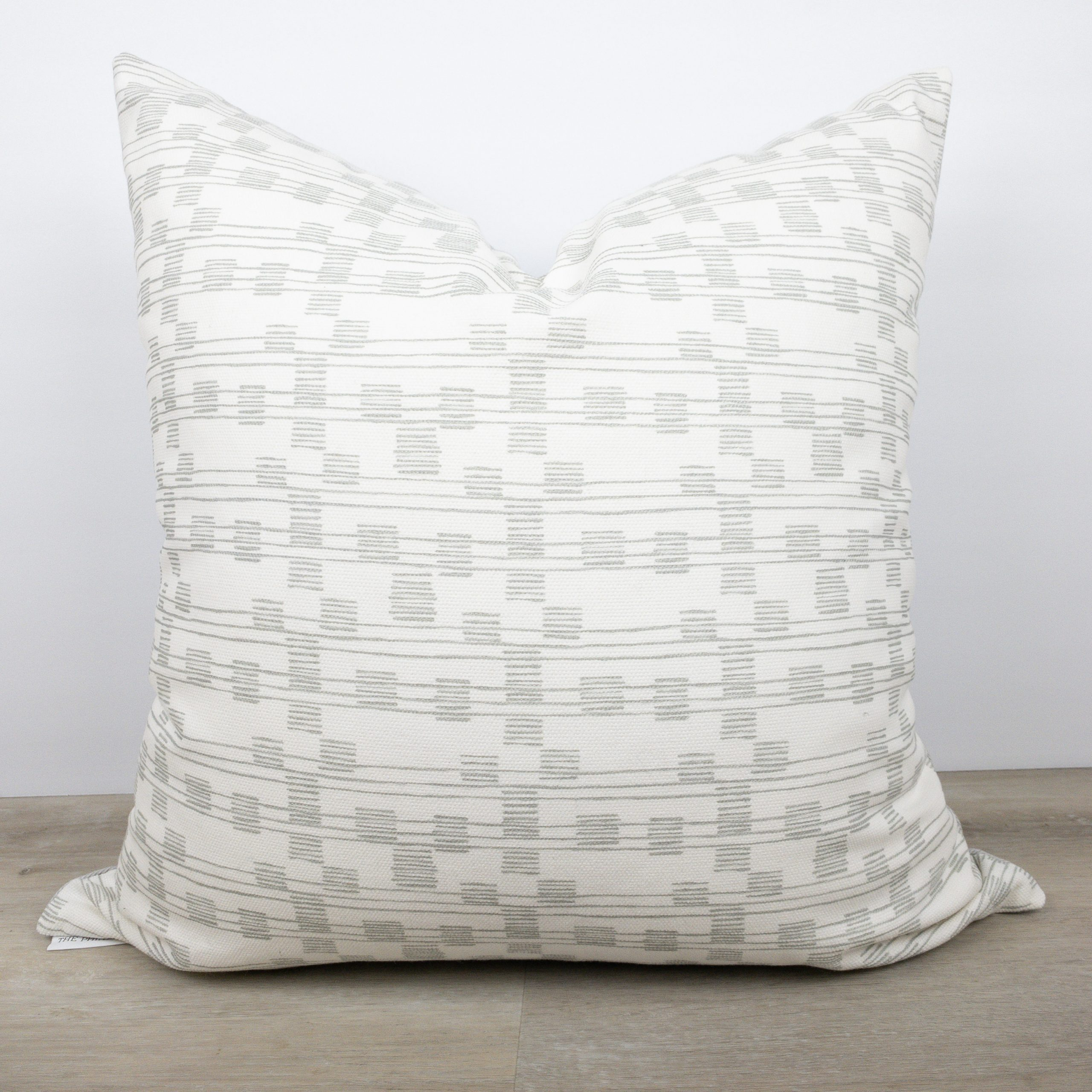 Gray And White Mini Strip Pillow