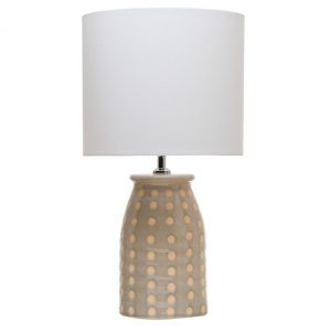 Gray Polka Dot Lamp