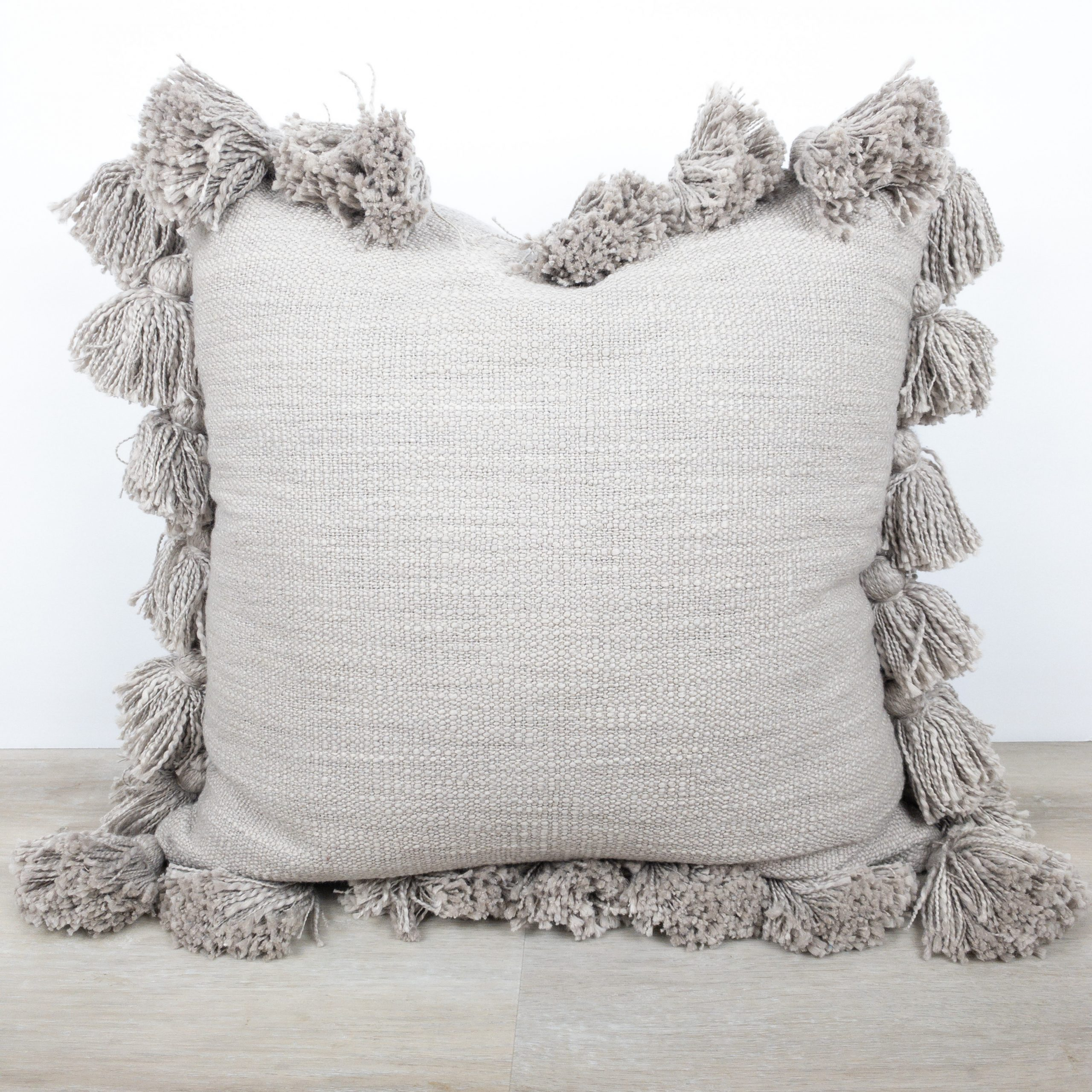 Gray Tassel Pillow The Phinery