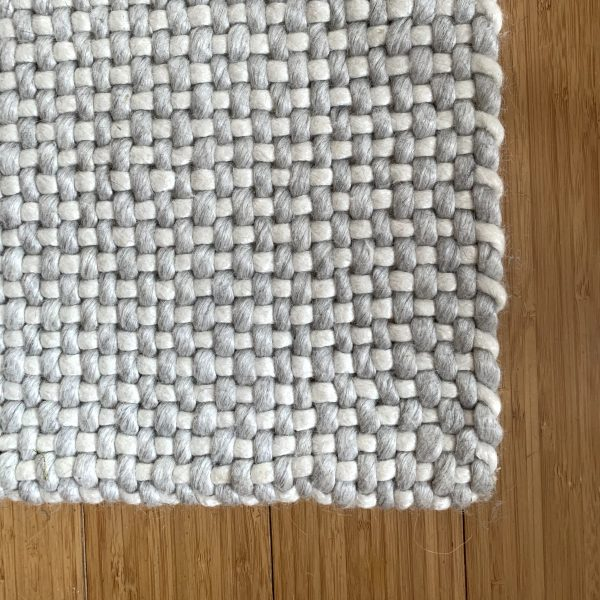 Ivory + Gray Woven Rug