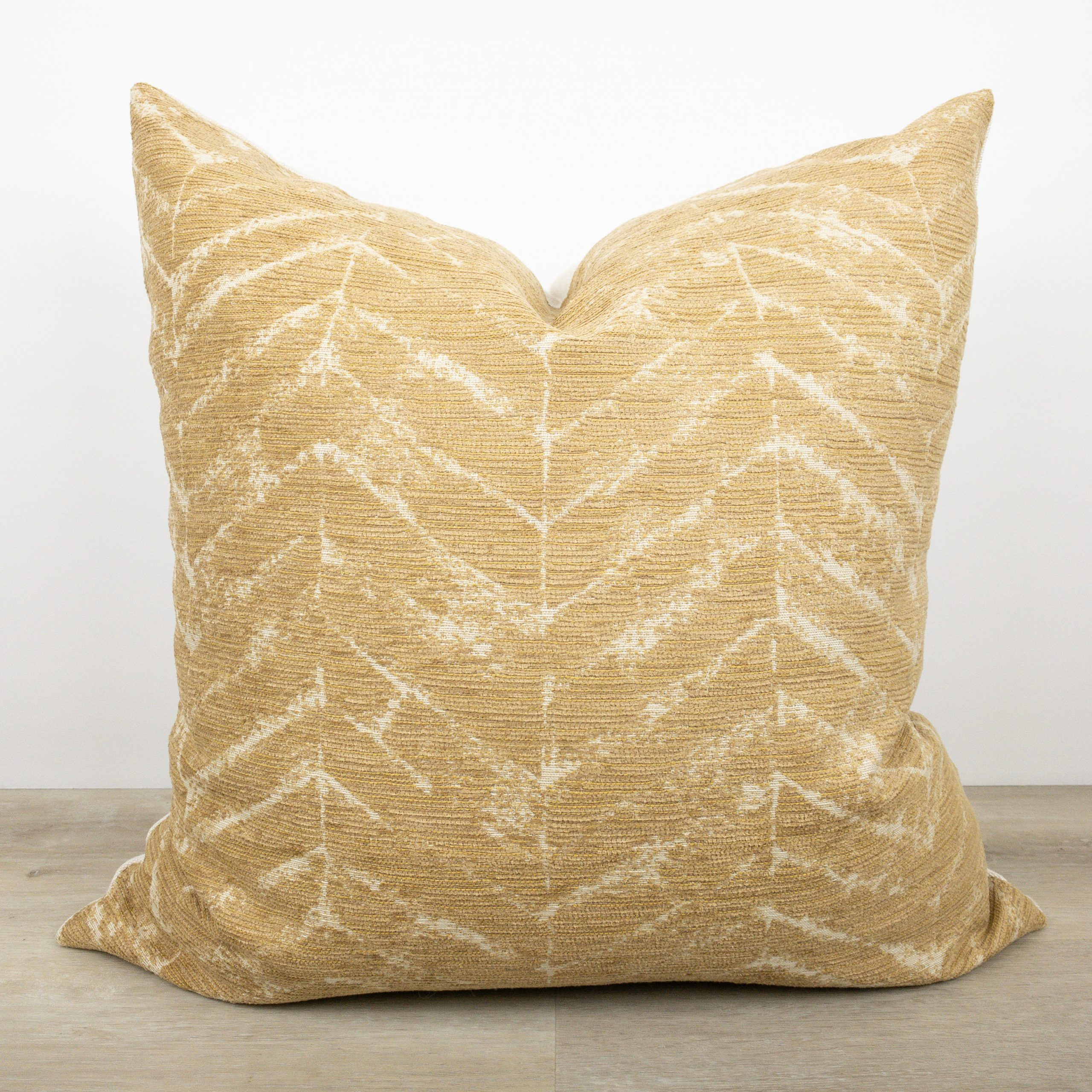 Mustard chevron pillow the Phinery