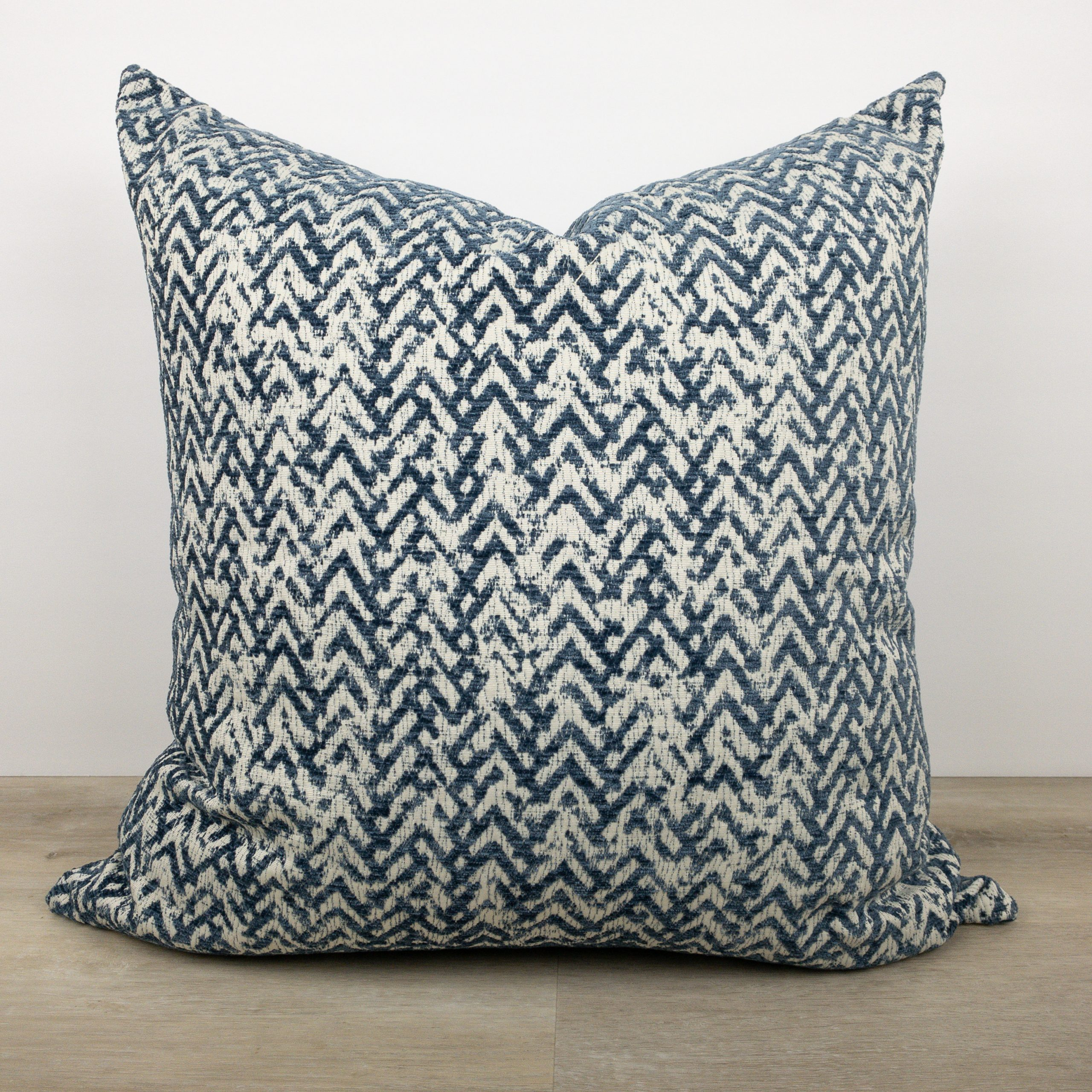 Peak to peak river blue pillow the phinery