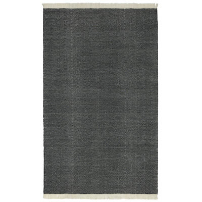 Herringbone Indoor/Outdoor Charcoal Rug