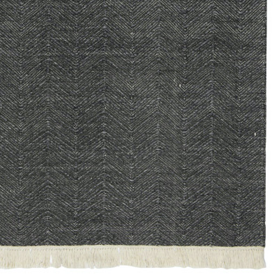 Herringbone Chacoal Indoor/Outdoor Rug