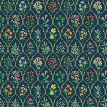Hawthorne York Wallpaper Navy 1