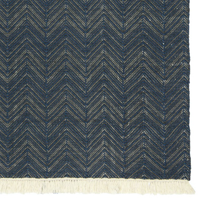 Herringhbone Indoor/Outdoor Rug Navy