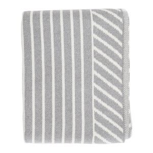 Double Stripe Throw ~ Aluminum
