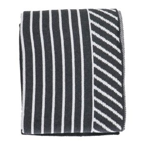 Double Stripe Throw ~ Charcoal