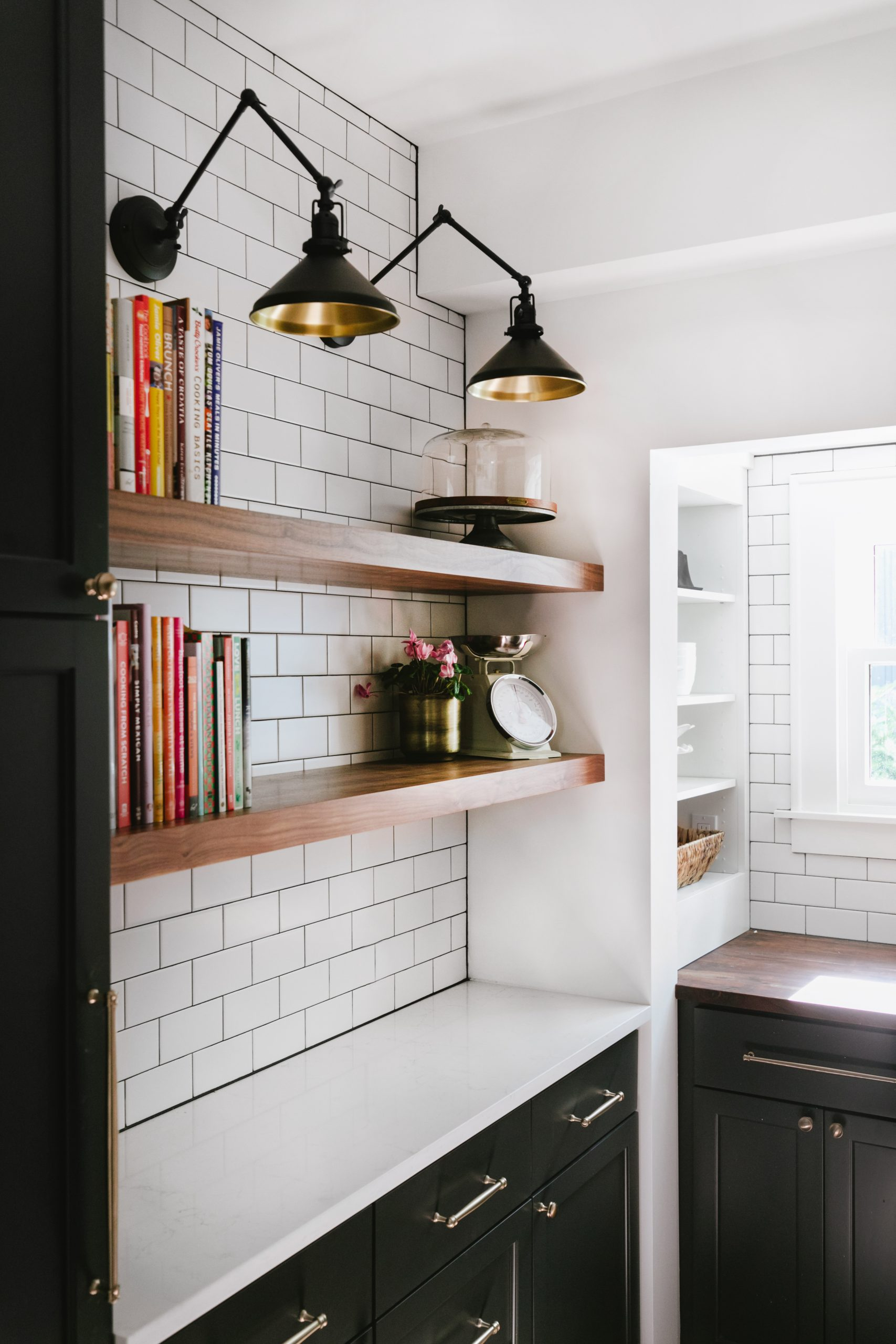 Modern Farmhouse Walk-in Pantry - The Phinery Interior Design Studio Seattle