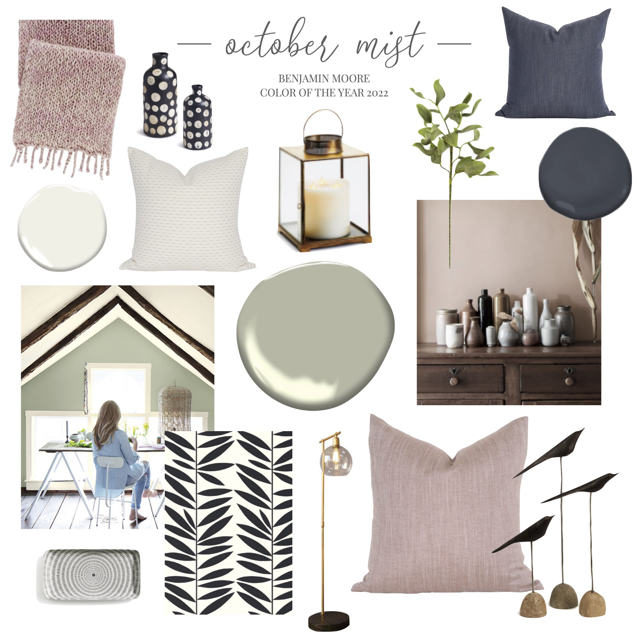 Phinery October Mist Mood Board