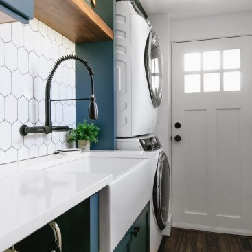 Navy Honeycomb Laundry Room by The Phinery