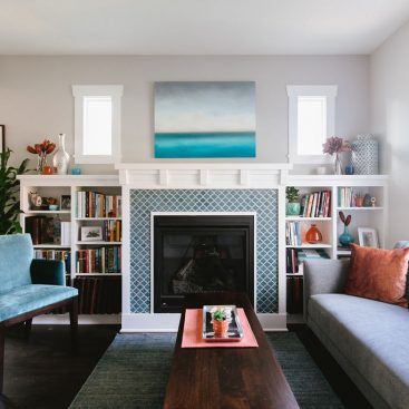 Colorful Living Room Design Seattle Interior Designer